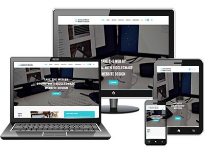 responsive website preview on multiple monitors and screens.
